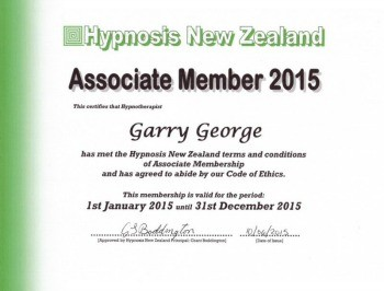 dunedin hypnotherapist garry george qualifications